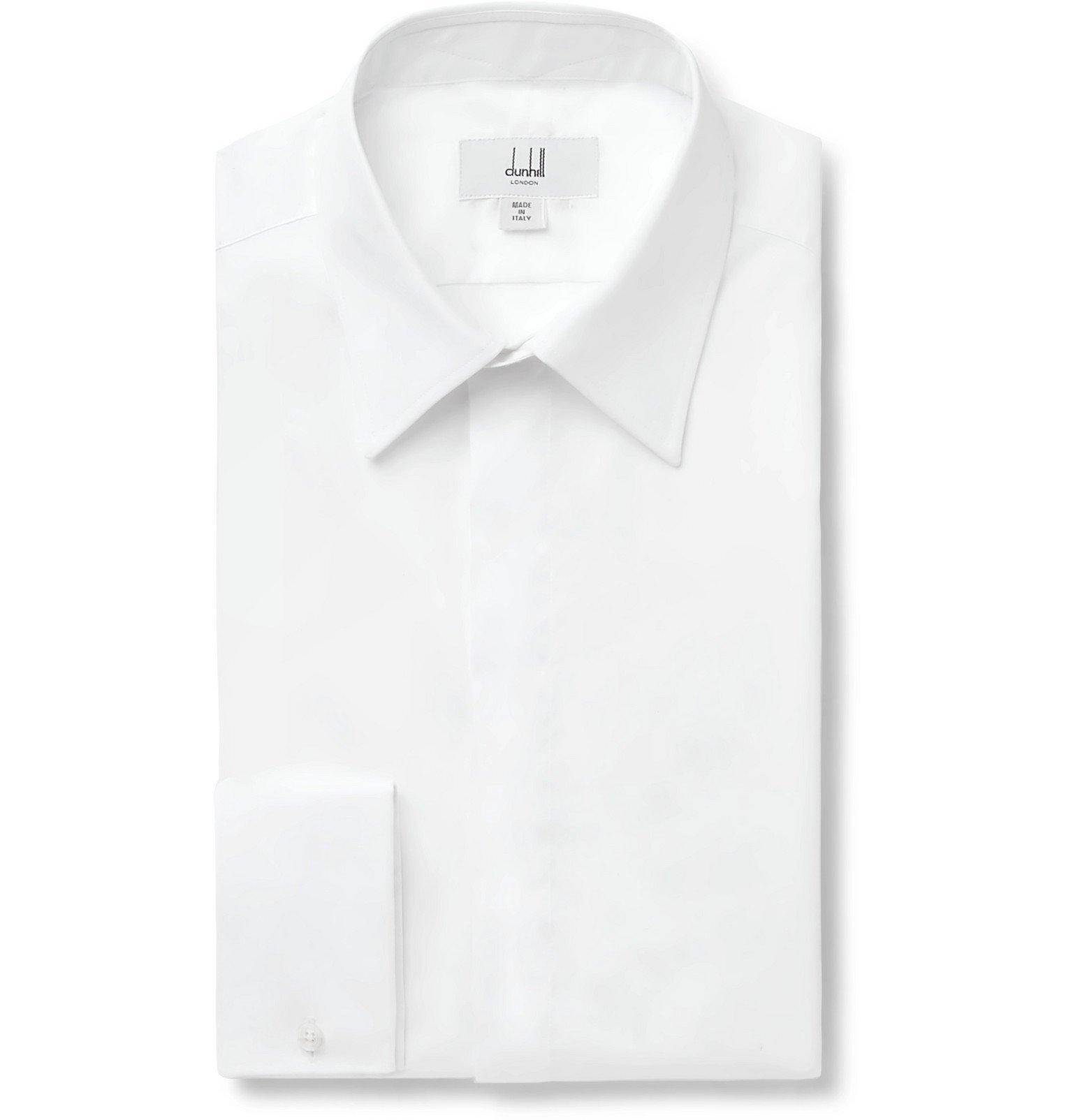 Dunhill - White Double-Cuff Cotton Shirt - White