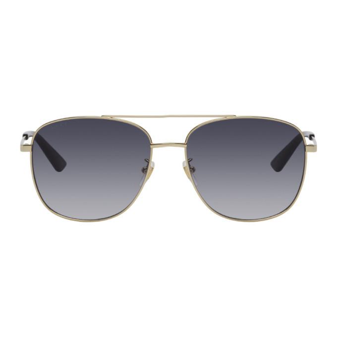 Photo: Gucci Gold Aviator Sunglasses