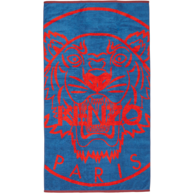 Photo: Kenzo Blue and Red Tiger Beach Towel