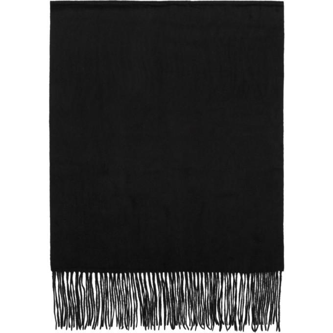 Photo: Won Hundred Black Stamford Wool Scarf