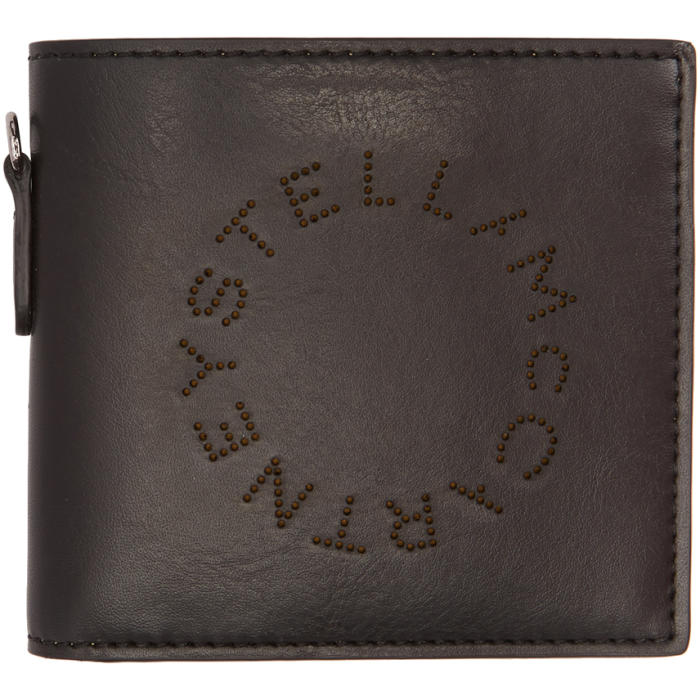 Photo: Stella McCartney Black Perforated Logo Bifold Wallet