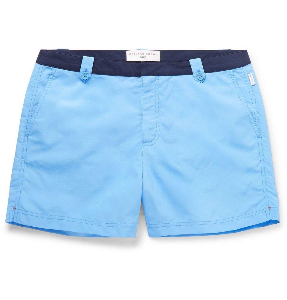 Photo: Orlebar Brown - 007 Thunderball Setter Mid-Length Swim Shorts - Blue