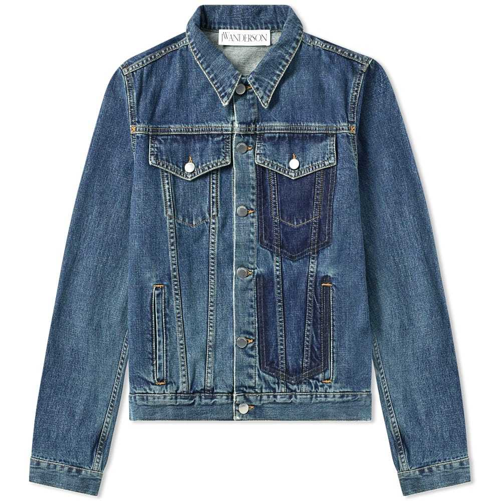 Photo: JW Anderson Shaded Pocket Detail Denim Jacket Mid Blue