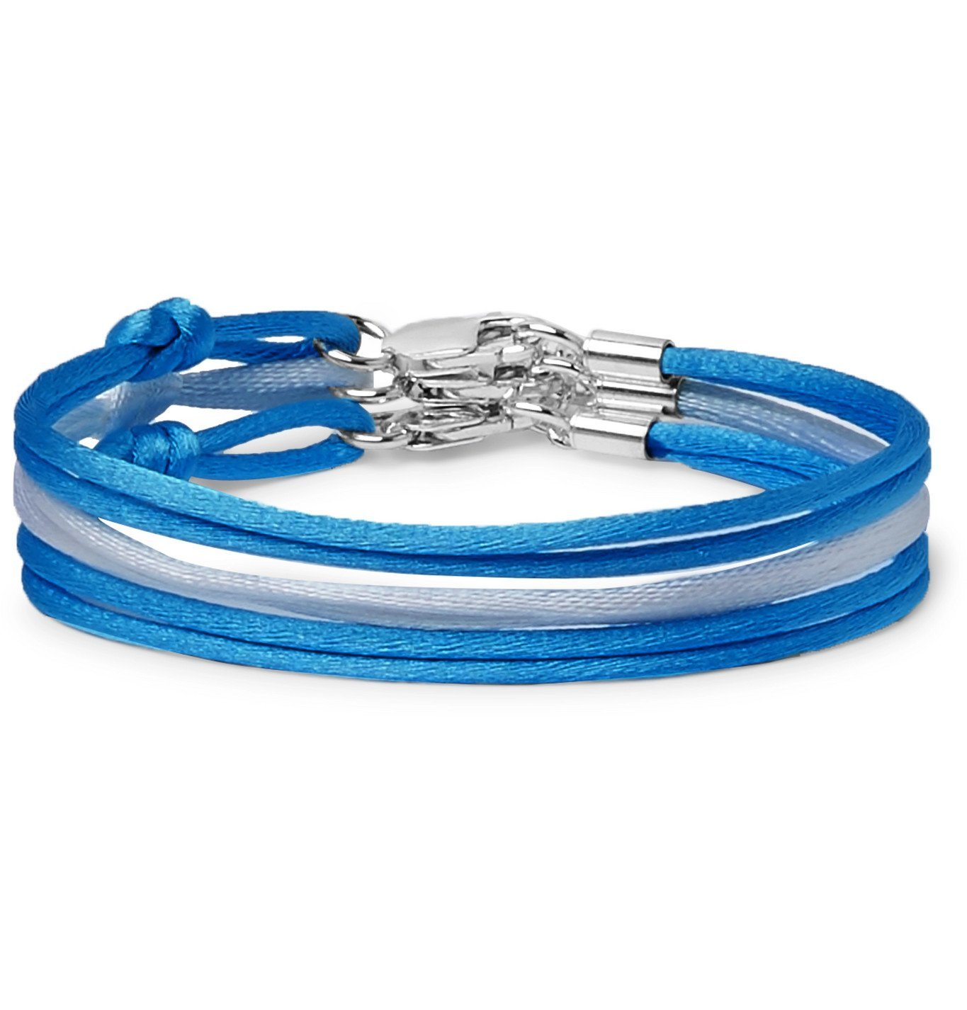 Photo: Rubinacci - Set of Three Silk Bracelets - Blue