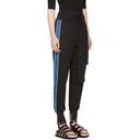 3.1 Phillip Lim Black and Blue Waist Tie Jogger Pants