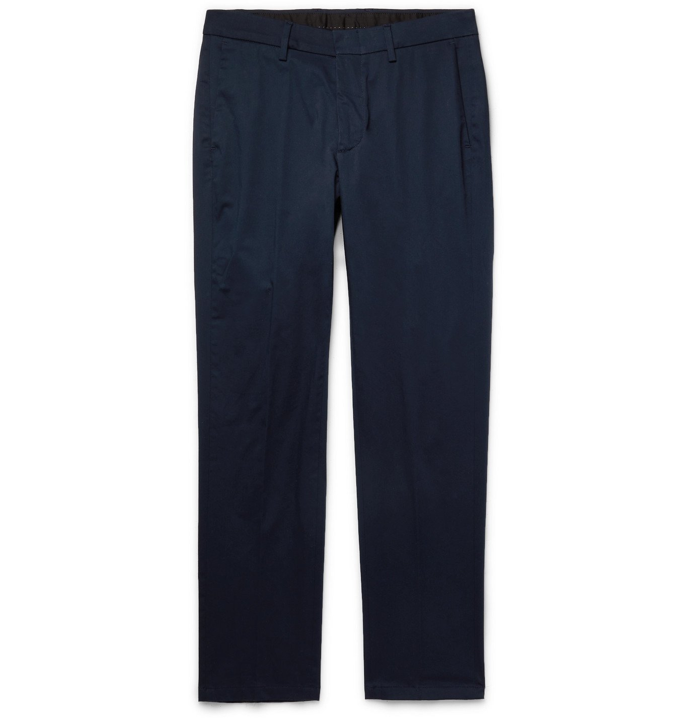 DUNHILL - Stretch Cotton and Mulberry Silk-Blend Trousers - Gray