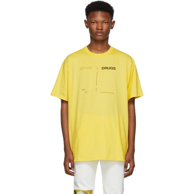Photo: Raf Simons Yellow Regular Fit Drugs T-Shirt