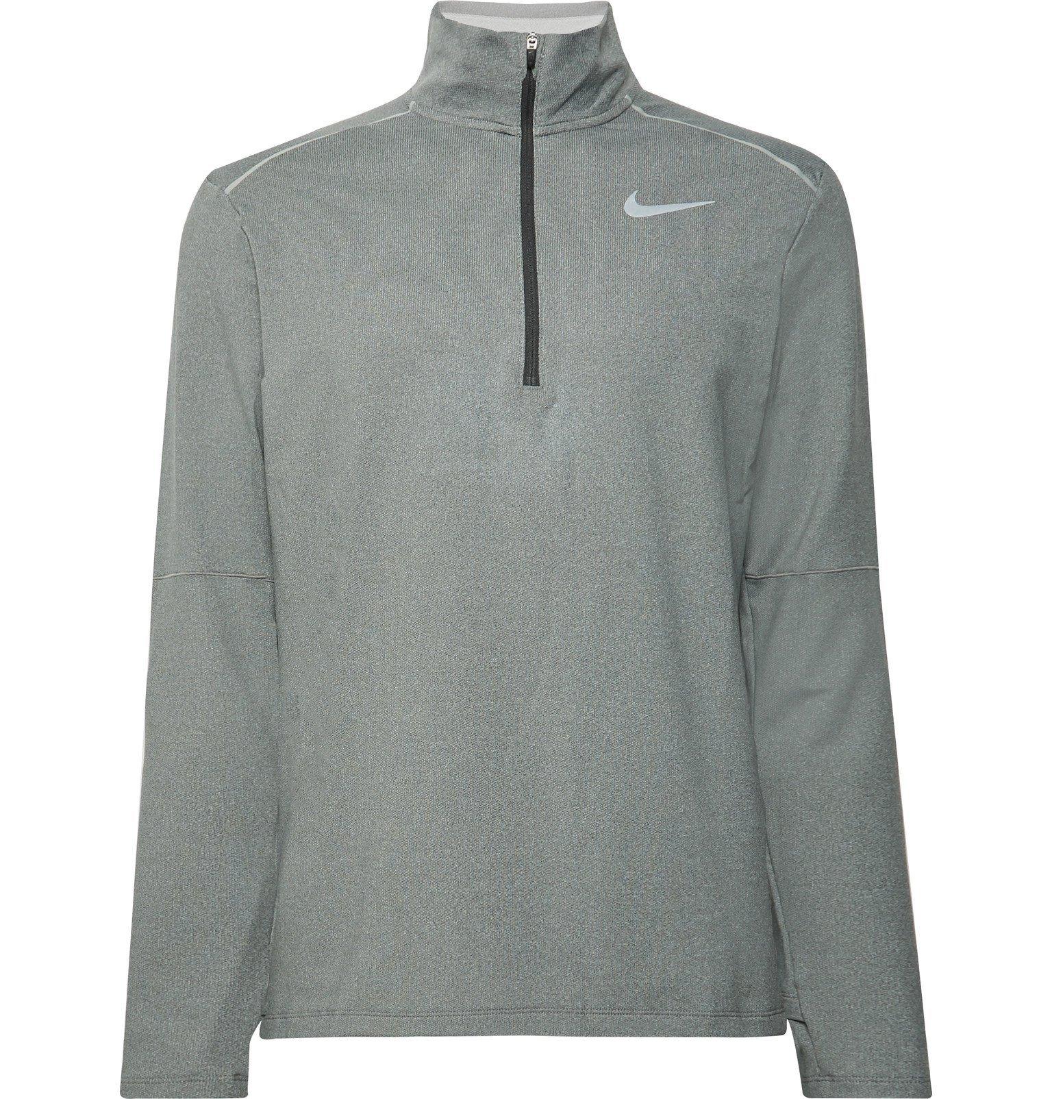 Nike Running - Element 3.0 Loopback Dri-FIT Half-Zip Top - Gray