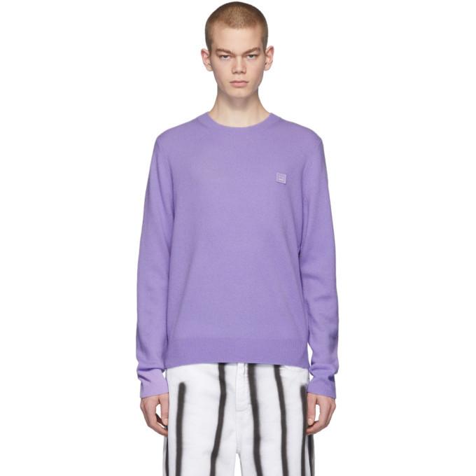 Photo: Acne Studios Purple Nalon Face Sweater