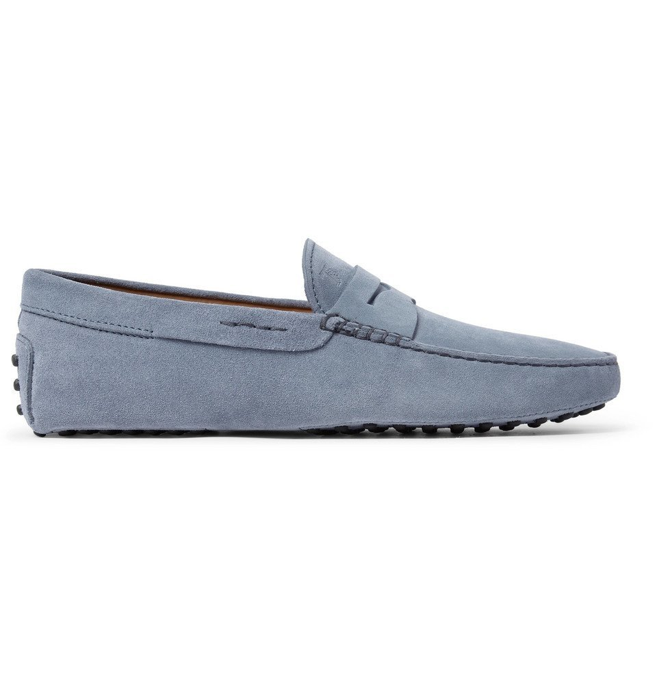 Tod's - Gommino Suede Driving Shoes - Men - Light blue
