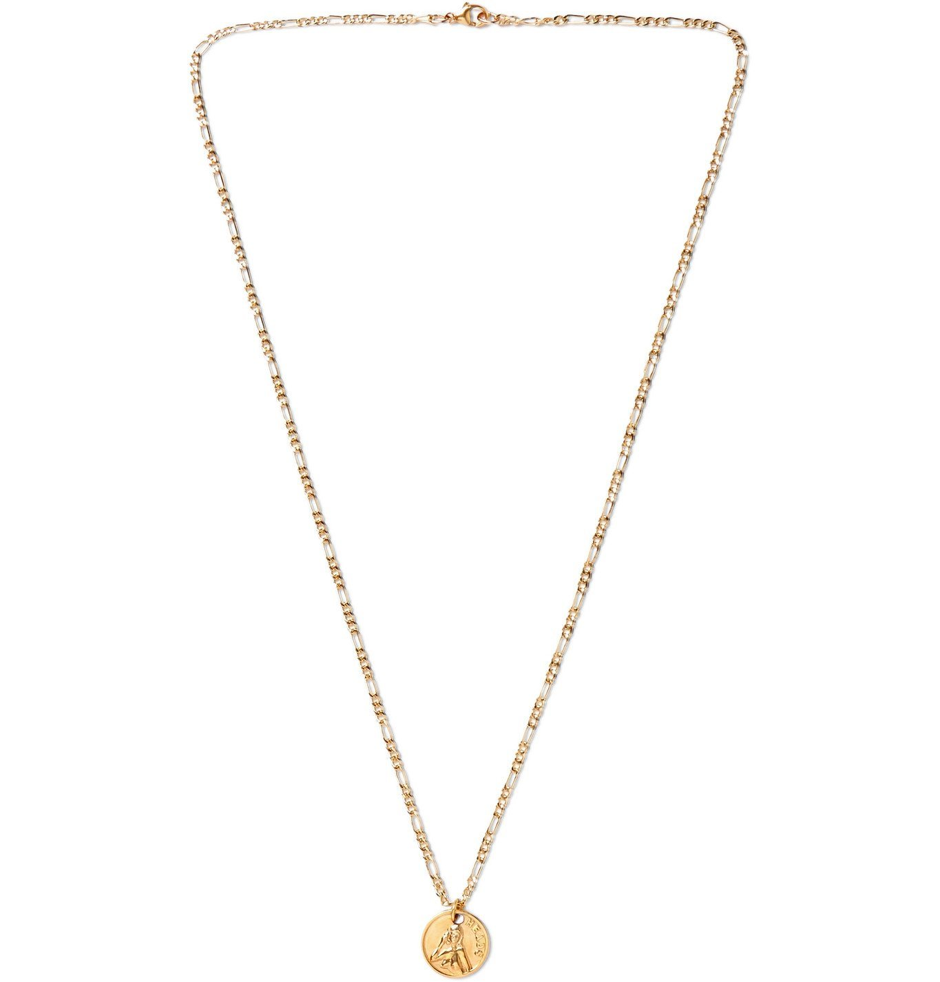 Photo: MAPLE - Freaky Tails Engraved 14-Karat Gold-Filled Necklace - Gold