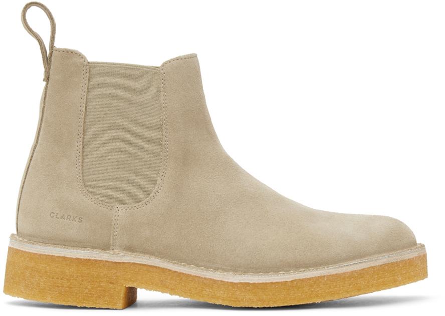 Photo: Clarks Originals Beige Desert Chelsea 2 Boots