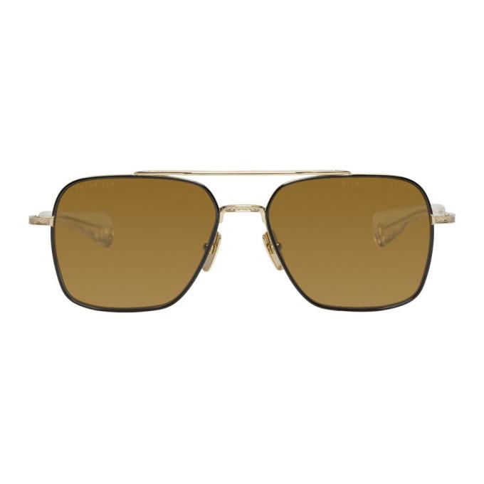 Photo: Dita Black and Gold Flight-Seven Sunglasses