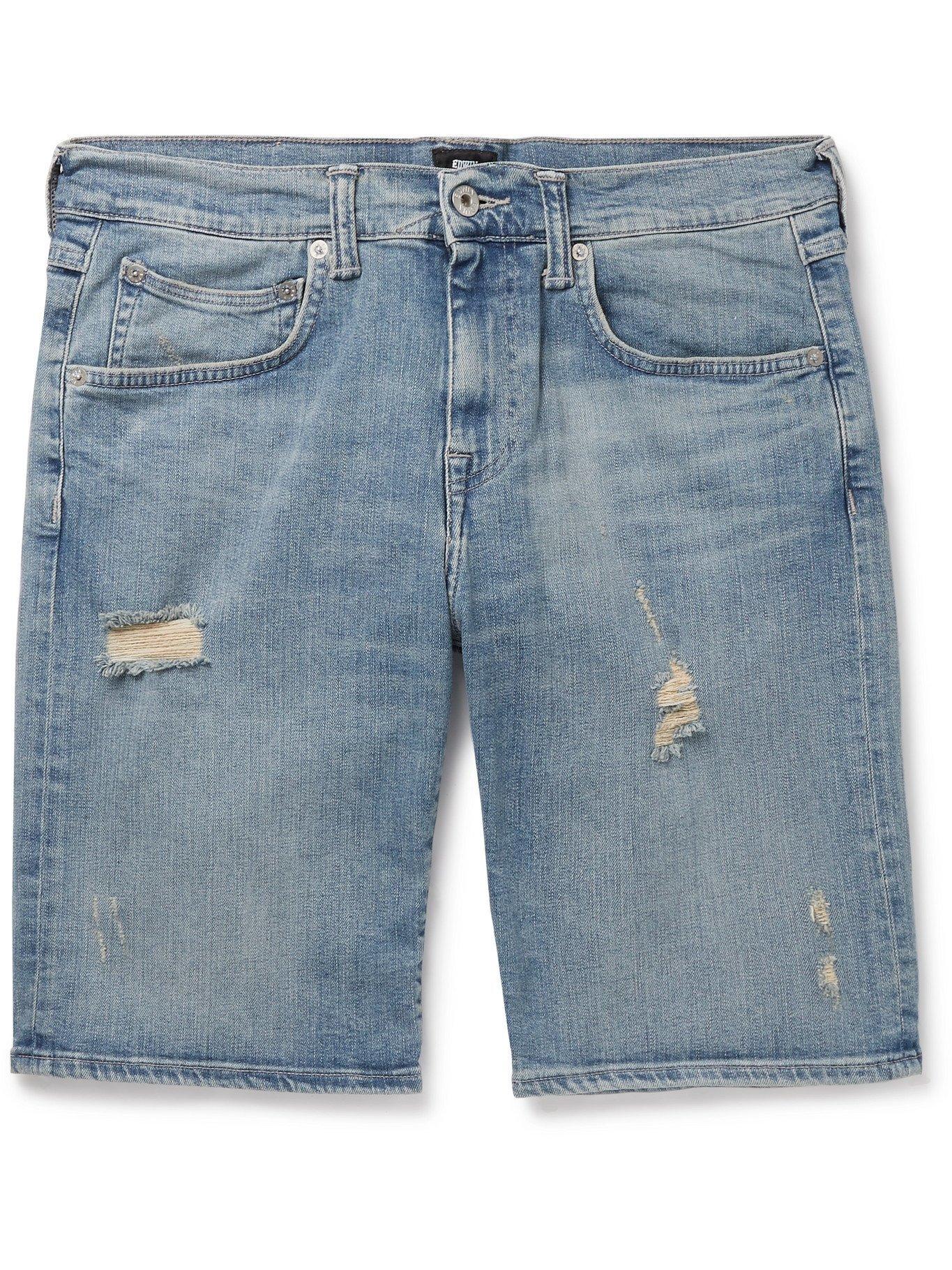 Photo: EDWIN - ED-55 Distressed Denim Shorts - Blue
