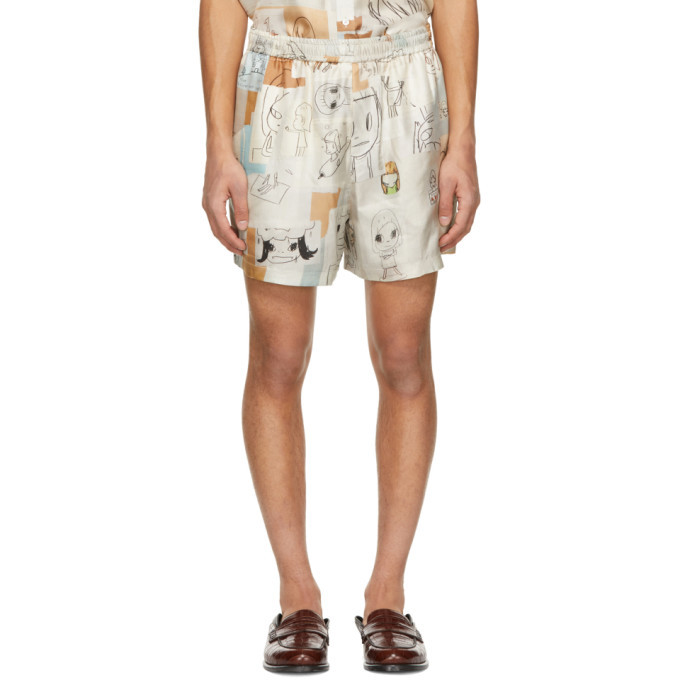 Photo: Stella McCartney Multicolor Yoshitomo Nara Edition Silk Timothy Shorts