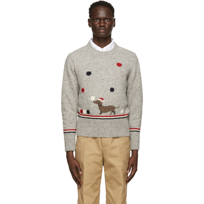 Photo: Thom Browne Grey Holiday Hector Sweater