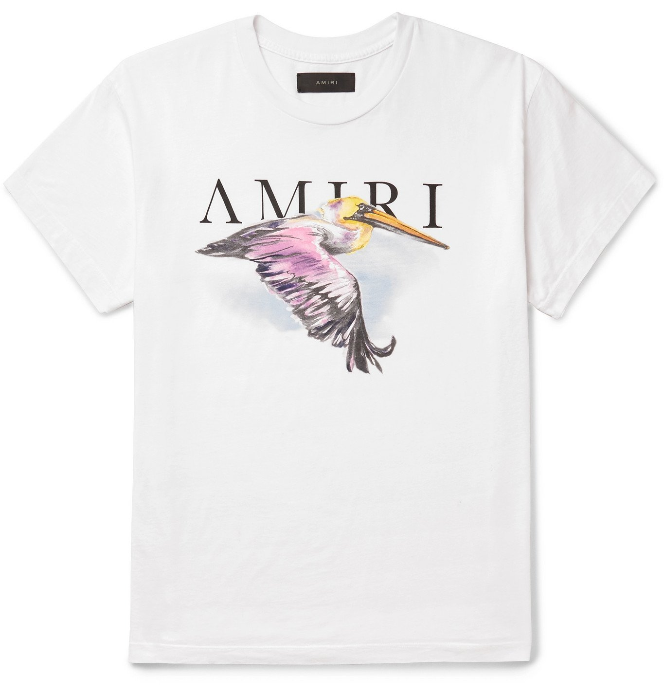 Photo: AMIRI - Logo-Print Cotton-Jersey T-Shirt - White