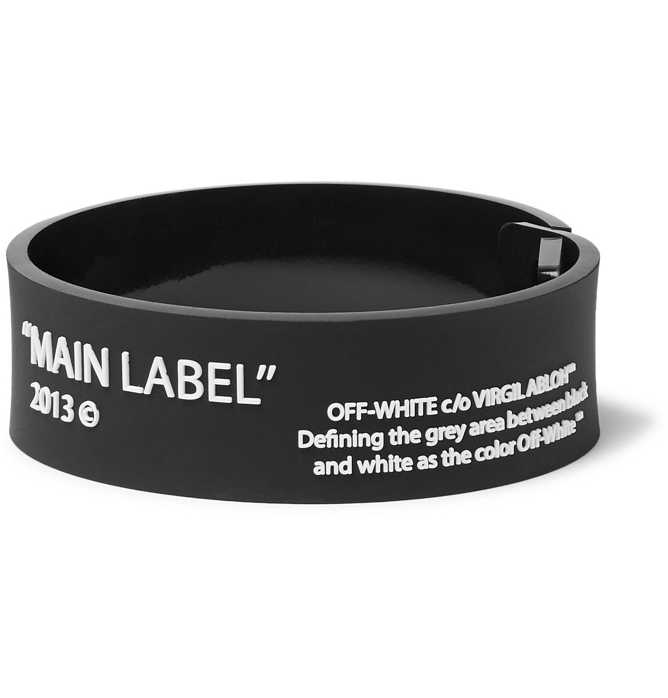 Photo: Off-White - Printed Rubber Bracelet - Black