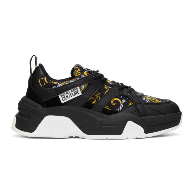 Photo: Versace Jeans Couture Black and Gold Barocco Sneakers