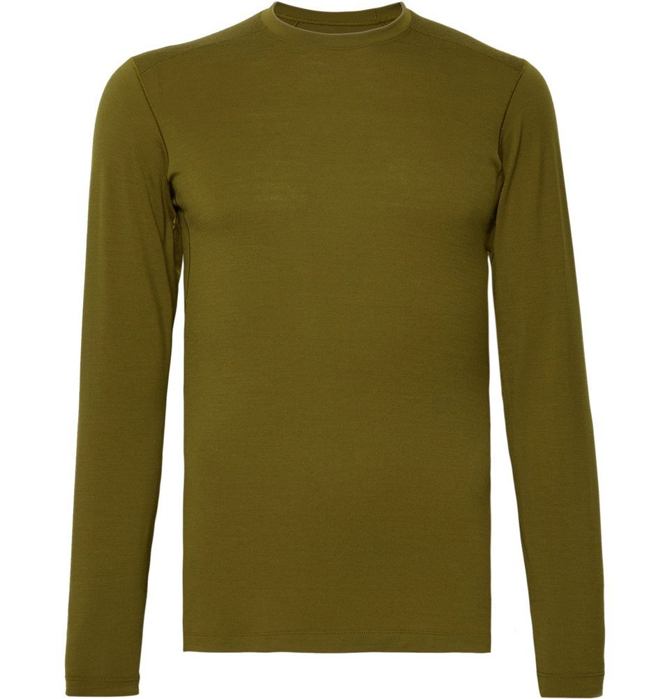 Photo: Arc'teryx - Satoro AR Wool-Blend Base Layer - Men - Army green