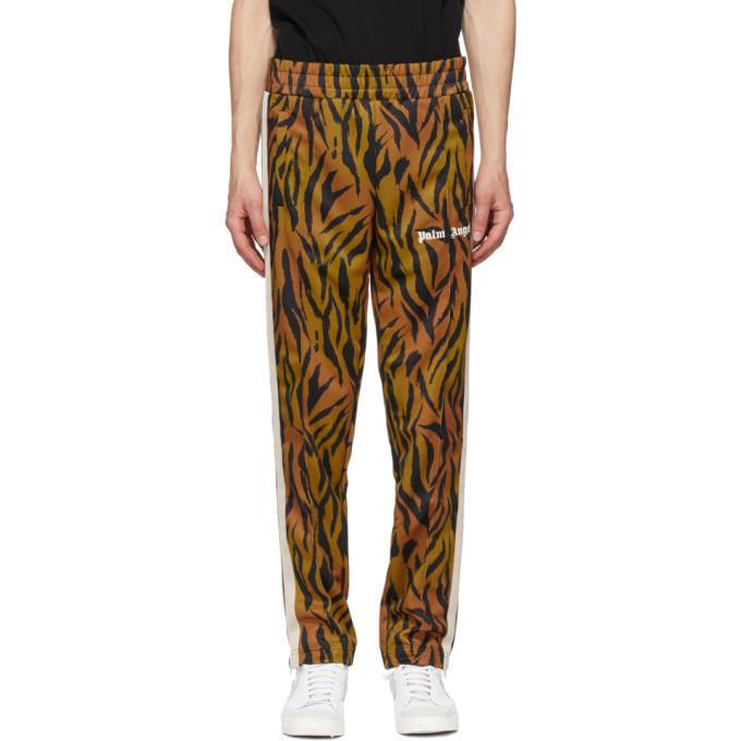 Photo: Palm Angels Black and Orange Tiger Track Pants