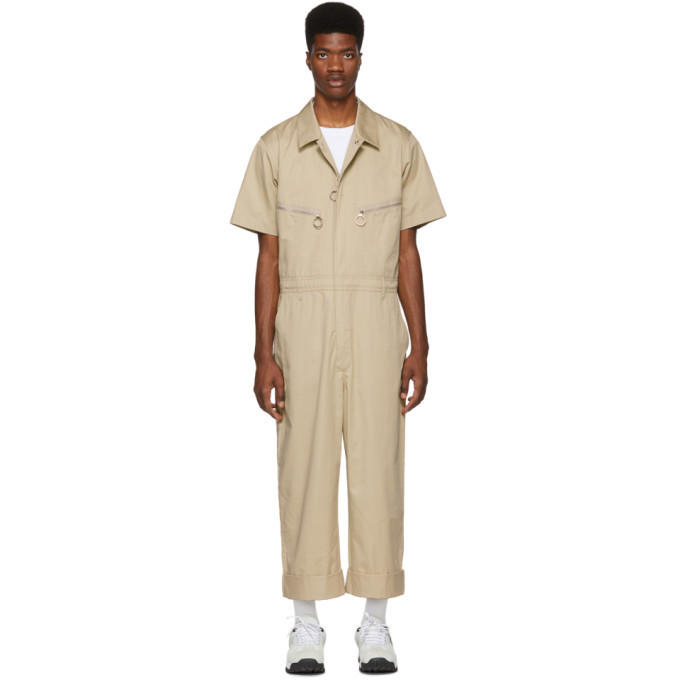 Photo: Burberry Beige Cotton Twill Zipped Overalls