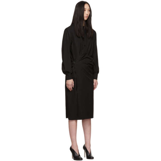 Lemaire Black Twisted Dress