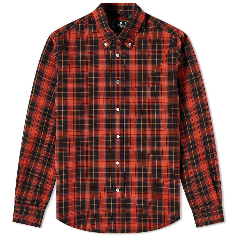 Photo: Gitman Vintage Button Down Poplin Plaid Shirt