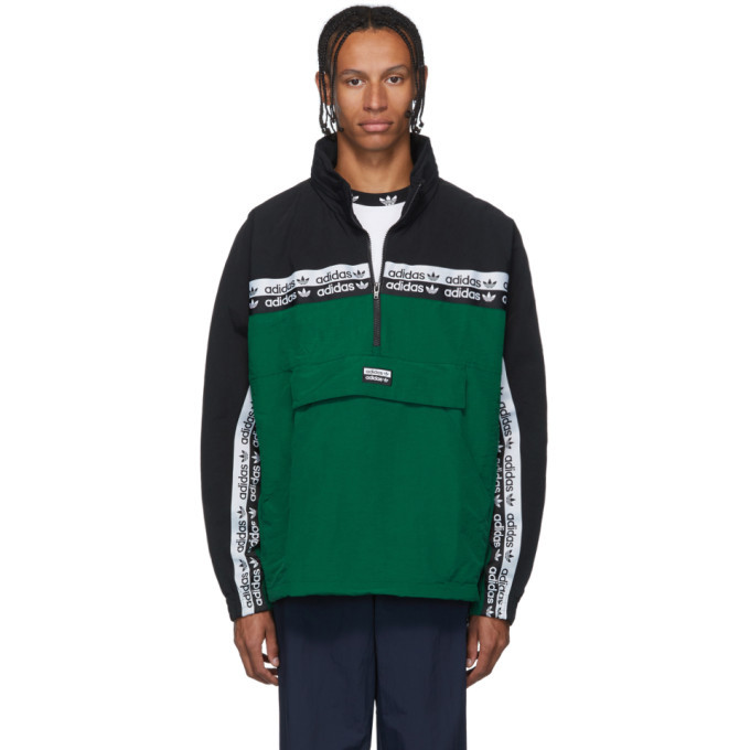 Photo: adidas Originals Green and Black RYV BLKD 2.0 Track Jacket