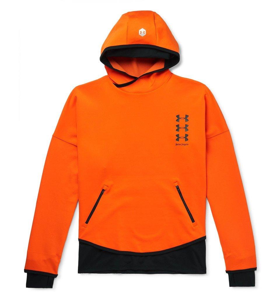 Tiempos antiguos fórmula Creación  Palm Angels - Under Armour Oversized Logo-Print Neoprene Hoodie - Orange Palm  Angels