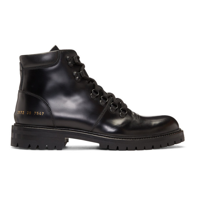 Photo: Common Projects Black Hiking Boots