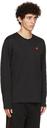 Helmut Lang Black Piped Long Sleeve T-Shirt