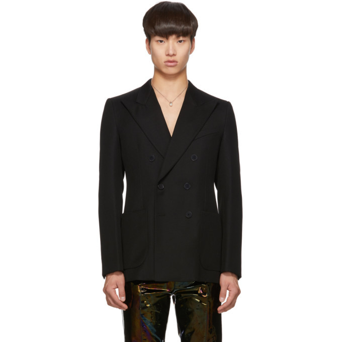 Photo: Givenchy Black Wool Pearly Buttons Blazer