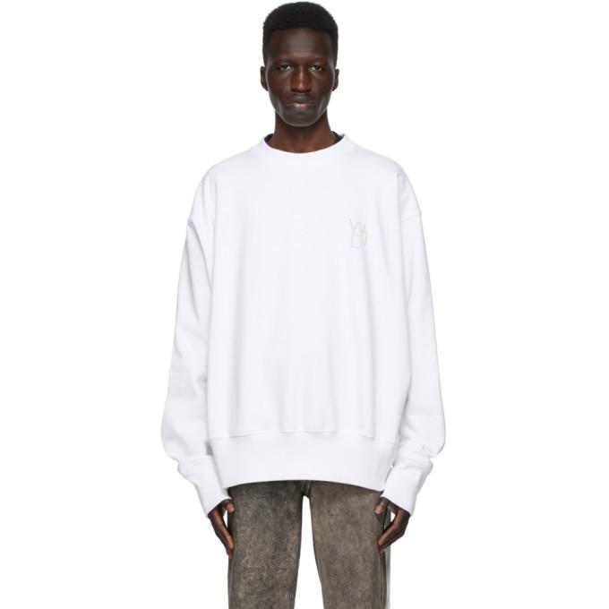 Photo: We11done White Pearl Logo Sweatshirt