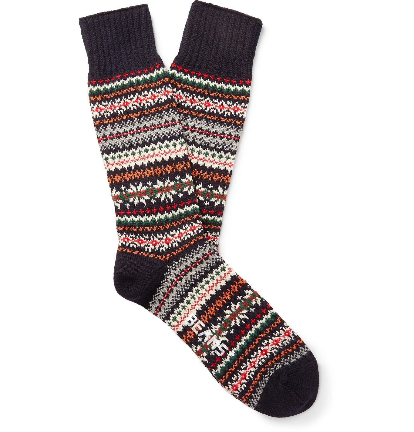 Photo: Beams Plus - Fair Isle Knitted Socks - Blue