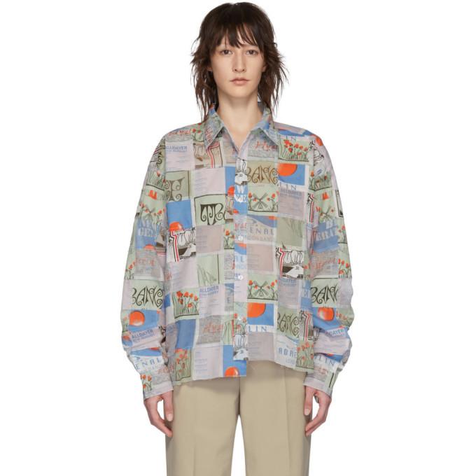 Martine Rose Multicolor Patchwork Flyer Shirt