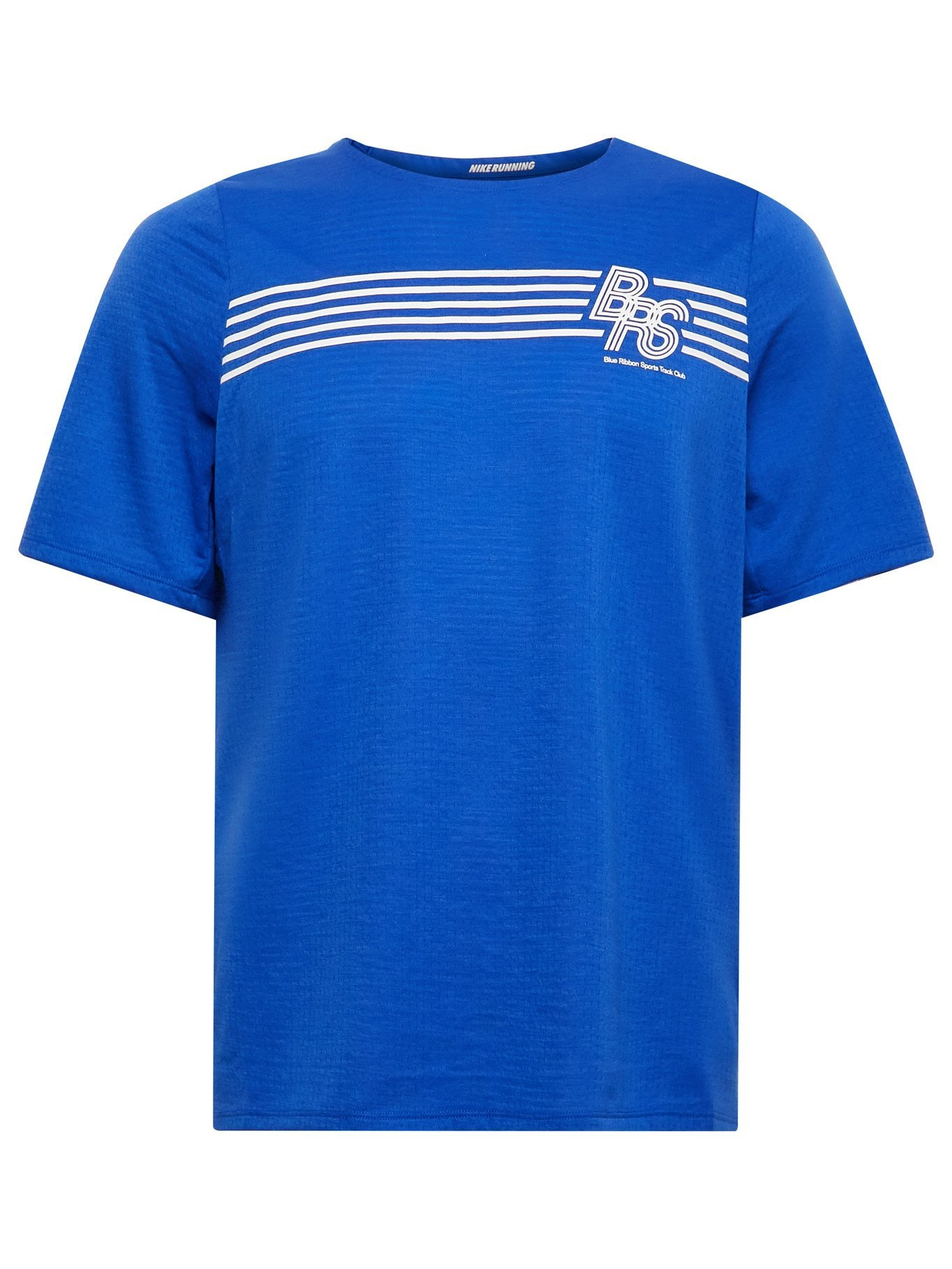 Photo: NIKE RUNNING - Rise 365 BRS Printed Perforated Dri-FIT T-Shirt - Blue