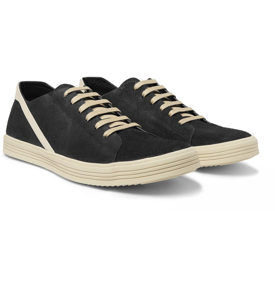 Geothrasher Leather-Trimmed Suede