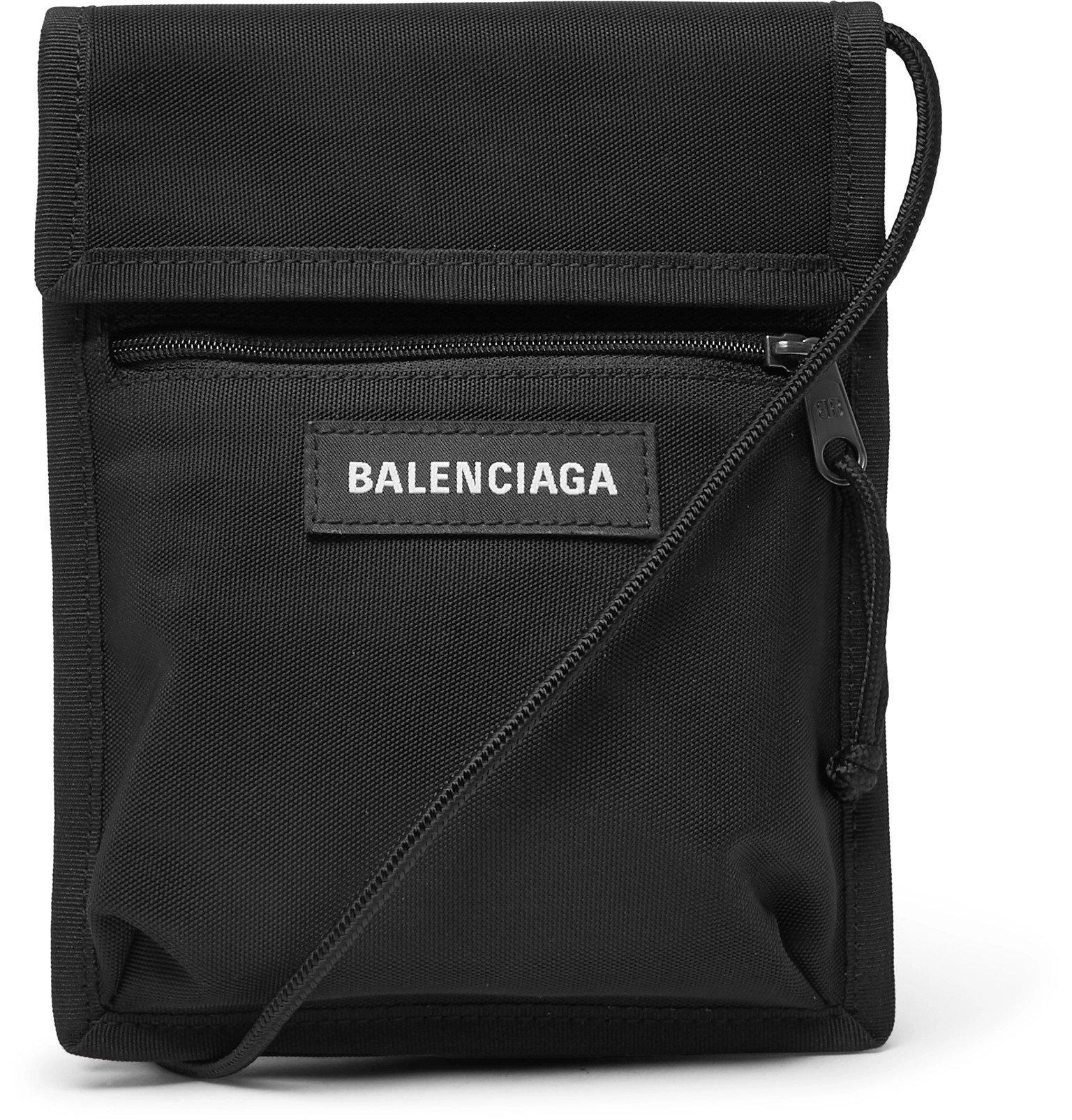 Photo: Balenciaga - Explorer Canvas Messenger Bag - Black