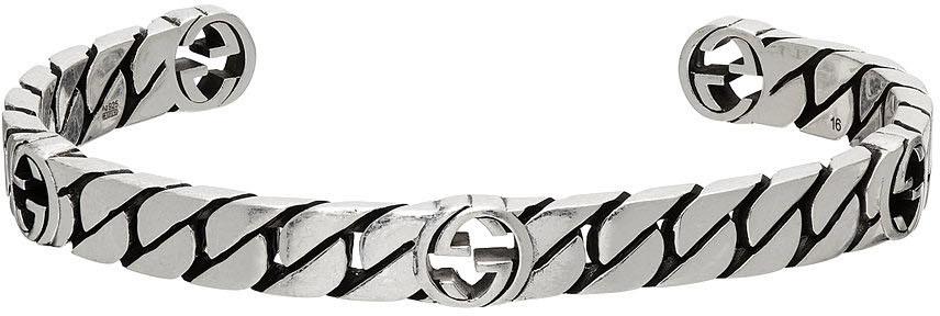 Photo: Gucci Silver Interlocking G Cuff Bracelet