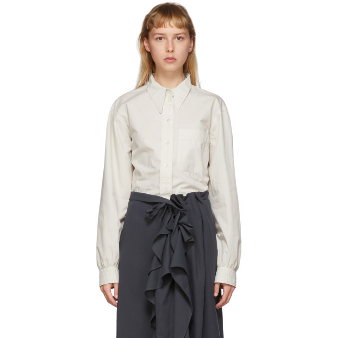 Photo: Lemaire Off-White Pointed Collar Shirt