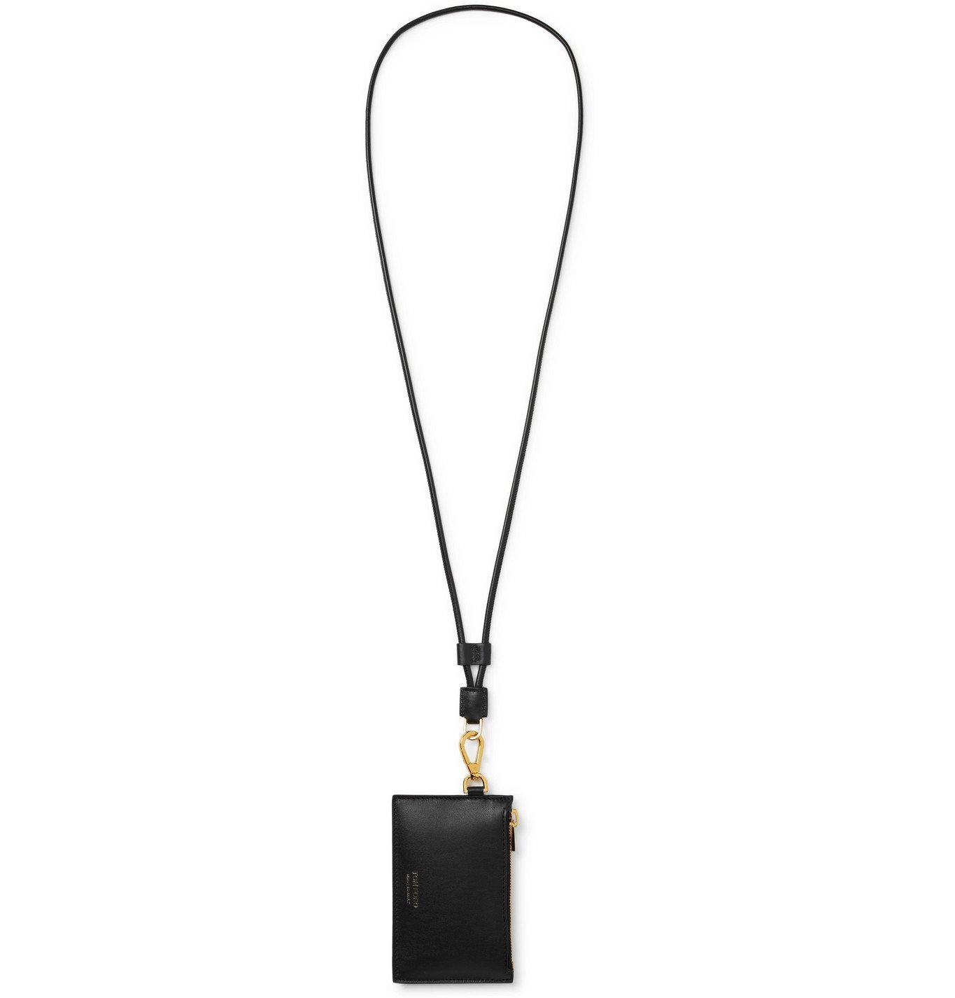 Photo: TOM FORD - Leather Cardholder with Lanyard - Black