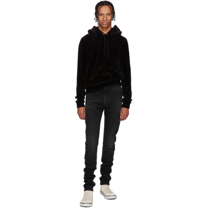 Photo: Saint Laurent Black Skinny Low Waisted Jeans