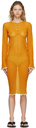 Acne Studios Orange Sheer Dress