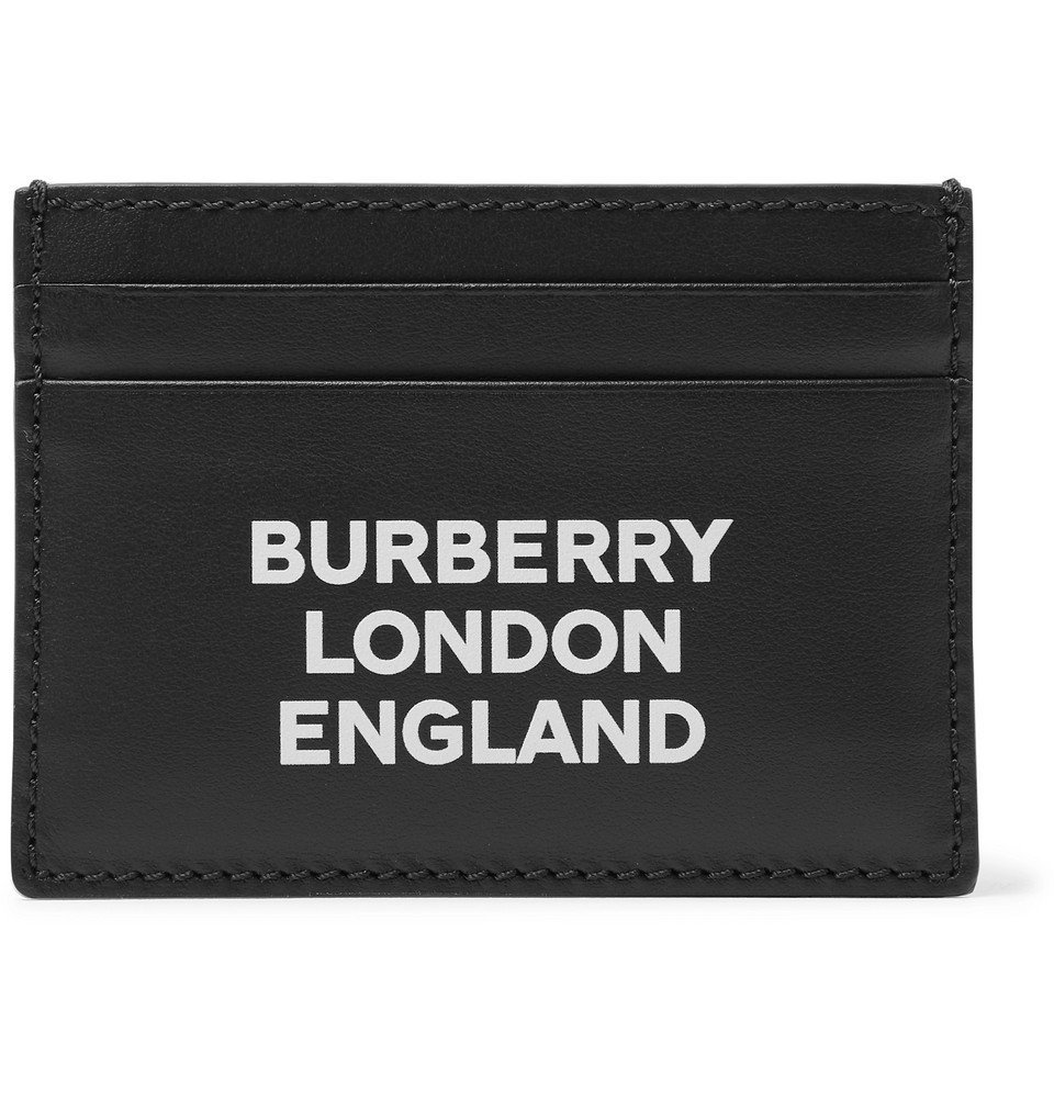 Photo: Burberry - Logo-Print Leather Cardholder - Black