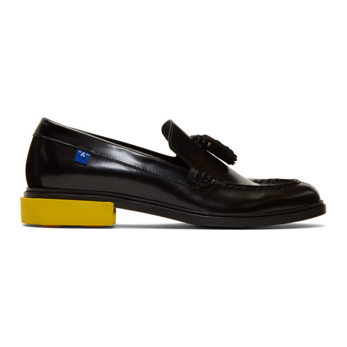 Photo: Off-White Black Leather Tassel Loafers