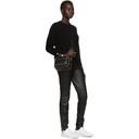 3.1 Phillip Lim Black Inset Shoulder High Low Sweater