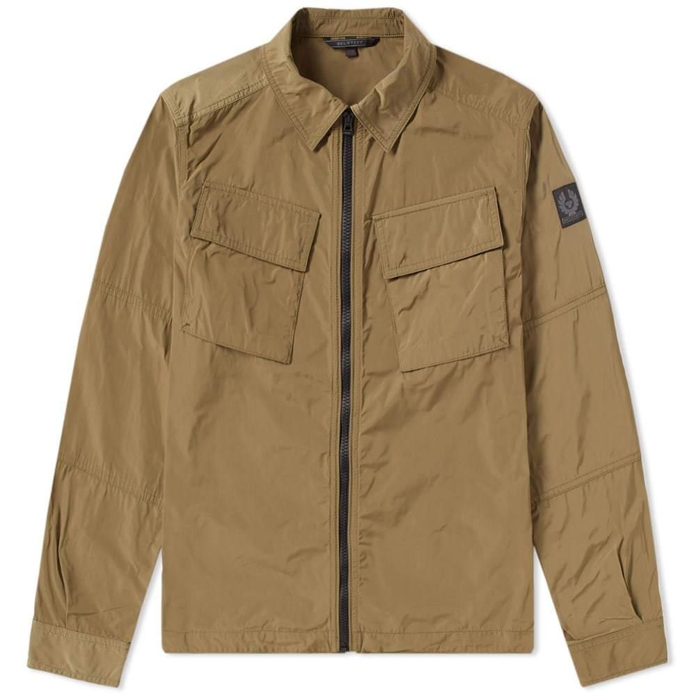 Belstaff Talbrook Zip Shirt Jacket Green