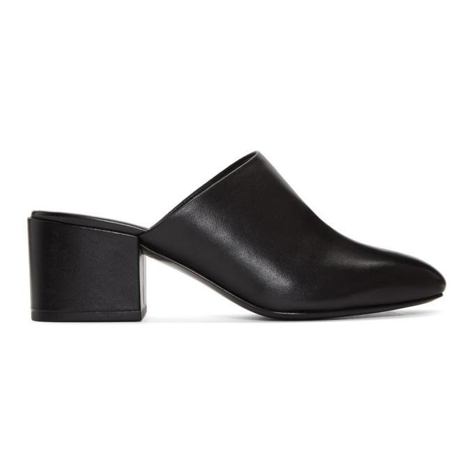 3.1 Phillip Lim Black Square Toe Mules