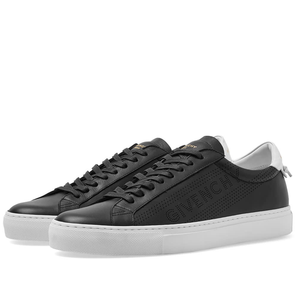 Photo: Givenchy Perforated Street Sneaker Black & White